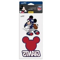 NEW YORK GIANTS MICKEY MOUSE DISNEY 2 PIECE PERFECT CUT DECA