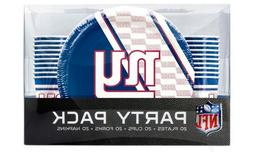 New York Giants NFL 20-Place Setting Party Pack - New In Box