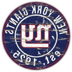 New York Giants NFL Badge Car Bumper Sticker Decal - 3'' or