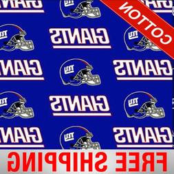 """New York Giants NFL Cotton Fabric - 60"""" Wide - Style# 6314 -"""