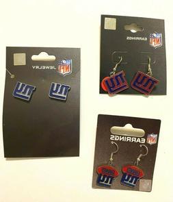 New York Giants NFL Earrings~Choose Your Style:Post/Dangle/F