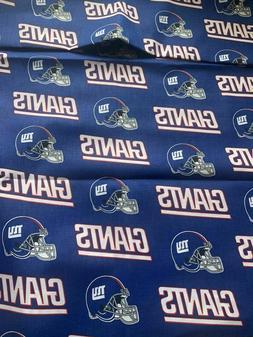 "New York Giants NFL Football Cotton Fabric 1/4 yard 9""x 58"