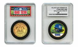 NEW YORK GIANTS NFL *GREATEST DAD* JFK 24KT Gold Clad Coin S