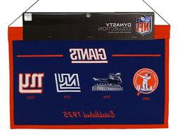 New York Giants NFL LARGE 22x14 Banner featuring logos from