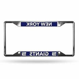 New York Giants NFL Lightweight Chrome Metal License Plate F