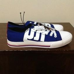 NEW YORK GIANTS NFL LOW TOP CANVAS SNEAKERS/SHOES XSMALL 7 F