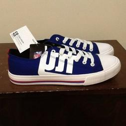NEW YORK GIANTS NFL LOW TOP CANVAS SNEAKERS/SHOES MEDIUM 9 F