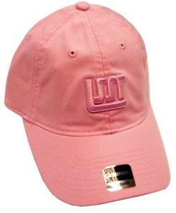 New York Giants NFL Reebok Pink Tonal Relaxed Slouch Hat Cap