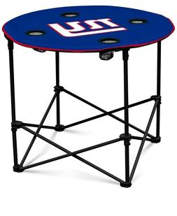 New York Giants NFL Round Folding Picnic Table Football Tail