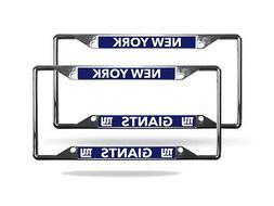 New York Giants NFL  Lightweight Chrome Metal License Plate
