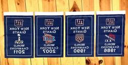 New York Giants NFL Super Bowl Champions 4 Banners/Flags Set
