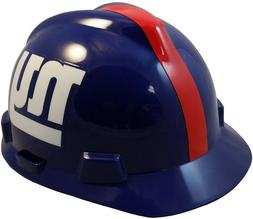 New York Giants MSA NFL Hard Hat with Fas-Trac Suspension