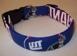 New York Giants NFL Terri's Dog Collar custom made adjustabl