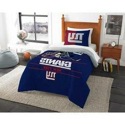 New York Giants NFL Twin Size 2 Pc Comforter and Sham Bed in