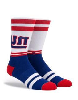 New York Giants NY Stance NFL Sideline Logo Crew Socks Large