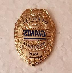 NEW YORK GIANTS OFFICIAL FOOTBALL FAN BADGE PIN