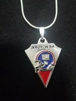 New York Giants Pendant Necklace Sterling Silver Chain NFL F