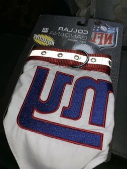 New York Giants Pet Collar Bandana NY NFL Officially License