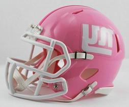 New York Giants Pink Alternate Riddell Speed Mini Helmet New