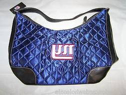 New York Giants Quilted Hobo Purse Large Handbag 10 x 5 x 8.