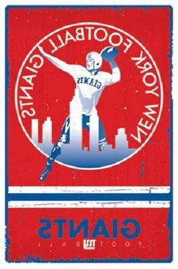 "New York Giants Retro Logo  NFL poster 22.5 x 34"""