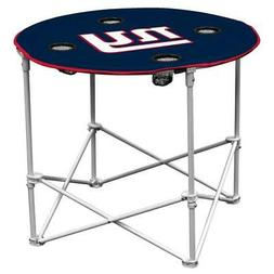 New York Giants Round Tailgate Table  NFL Portable Chair Fol