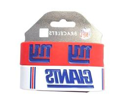 New York Giants Rubber Wrist Band Set of 2 NFL