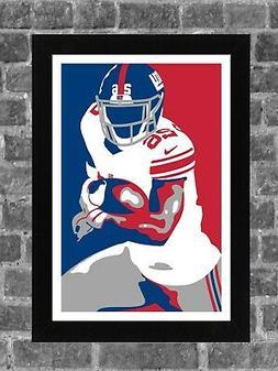 New York Giants Saquon Barkley Sports Print Art 11x17