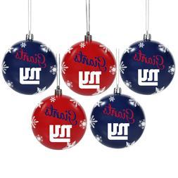 New York Giants Shatterproof BALLS Christmas Tree Holiday Or