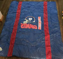 New York Giants Sideline Bed Comforter By Sports Coverage 86