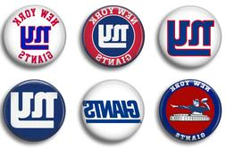 New York Giants six 1 inch button sport pin badge football t