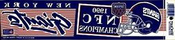 New York Giants Super Bowl XXV Original Bumper Sticker~Great
