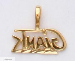 New York Giants Team Name Necklace Pendant 24k Gold Charm Fa