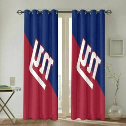 New York Giants Thicken Curtains Panels Thermal Blackout Win