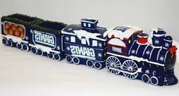 New York Giants Train Set Table Top Village Christmas Decor