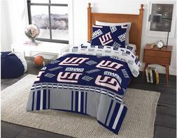 New York Giants NFL Twin Comforter & Sheets, 4 Piece NFL Bed