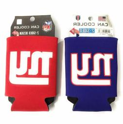 New York Giants Two Sided Can Coolers  Pair  NFL Koozie Cooz