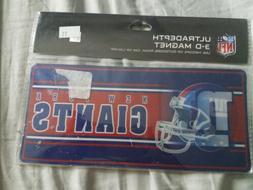 New York Giants NFL Ultradepth 3-d Magnet use anywhere 8X4