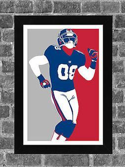 New York Giants Victor Cruz Portrait Sports Print Art 11x17