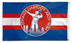 New York Giants WC RETRO Throwback Logo Premium 3x5 Flag Out