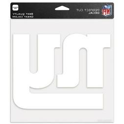 """NEW YORK GIANTS WHITE LOGO CUT DECAL 8""""X8"""" SHEET PERFECT FOR"""