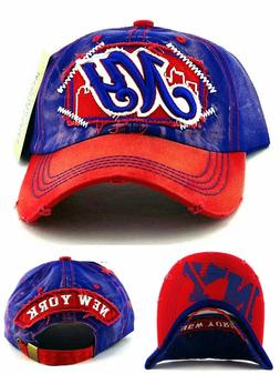 New York New Women Ladies Vintage Giants Colors Blue Red Era