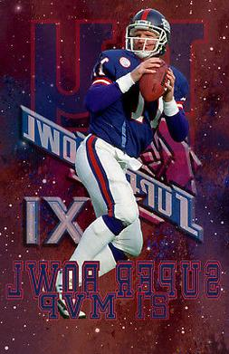NewYork Giants Lithograph print of Phil Simms Super Bowl 21