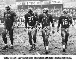 NFL 1962 New York Giants D Line Yankee Stadium Black & White