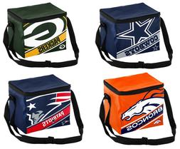 NFL Big Logo Stripe 6 Pack Cooler - Lunch Box - Pick your Te
