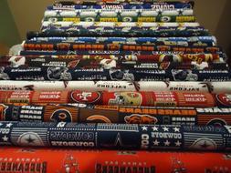 NFL Cotton Football Fabric - NFC Teams  1/4 Yard  9 inches x