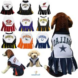 NFL Fan Gear Cheerleader Female Dog Dress for Pets Dogs - AL