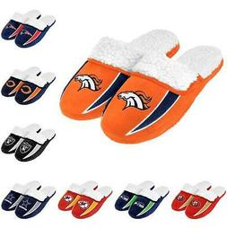 NFL Football 2013 Sherpa Slide Shoe Slippers - New! - Pick Y