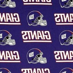 "NFL Football New York Giants 18x29"" Cotton Fabric Fat Quarte"