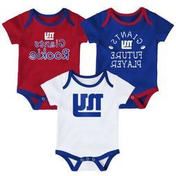 Outerstuff NFL Infants New York Giants 3 Piece Creeper Set